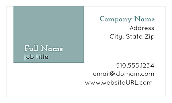 Personalize The Modern Box Online Business Card Design