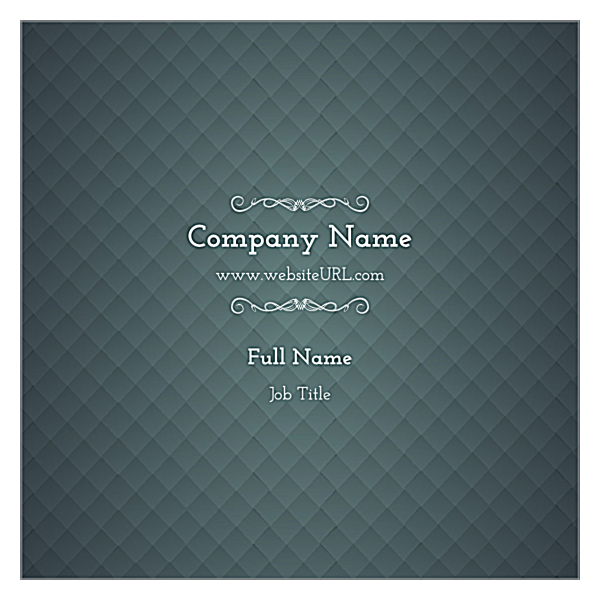 Blue & Gray Diamonds back - Business Cards Maker