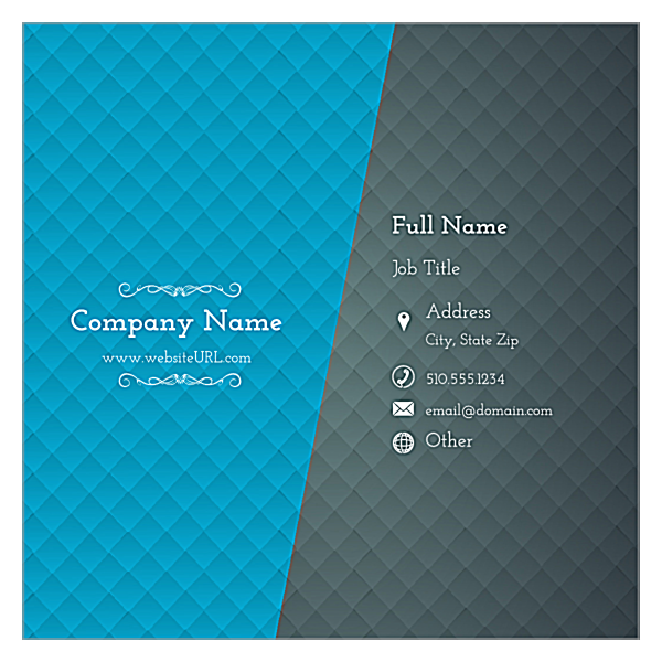 Blue & Gray Diamonds front - Business Cards Maker