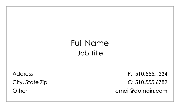 Simple & Stylish back - Business Cards Maker