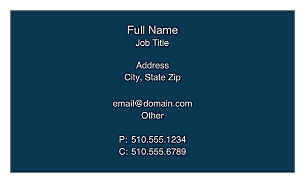 Classic Tradition front - Business Cards Maker