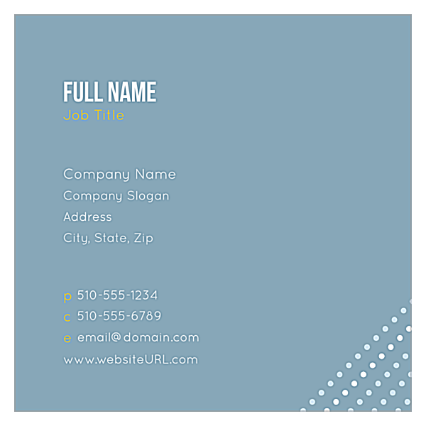Dots front - Business Cards Maker