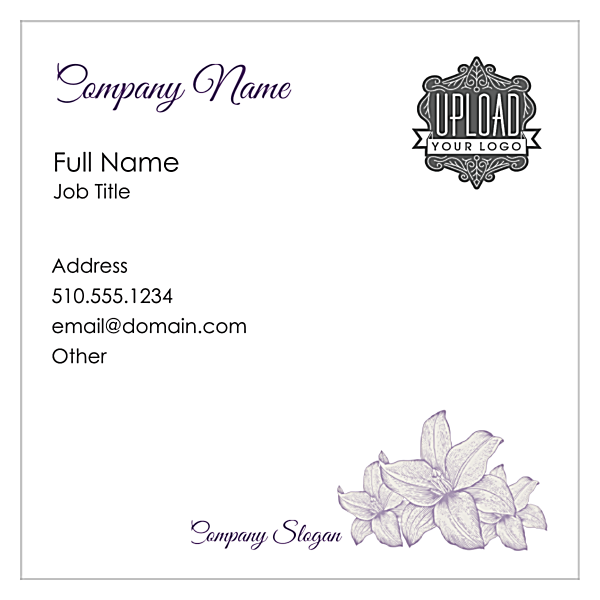Flowers front - Business Cards Maker