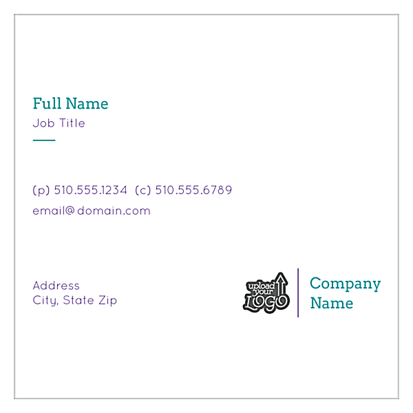 Colorful Health front - Business Cards Maker