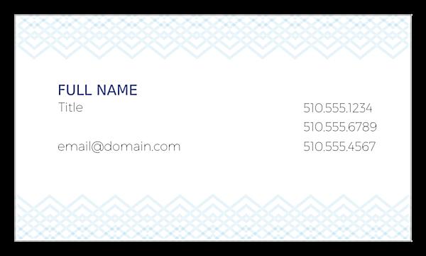 Diamond pattern front - Business Cards Maker