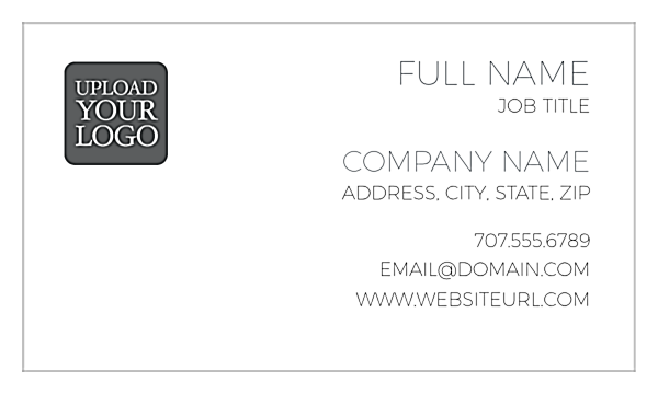 Right Align One front - Business Cards Maker