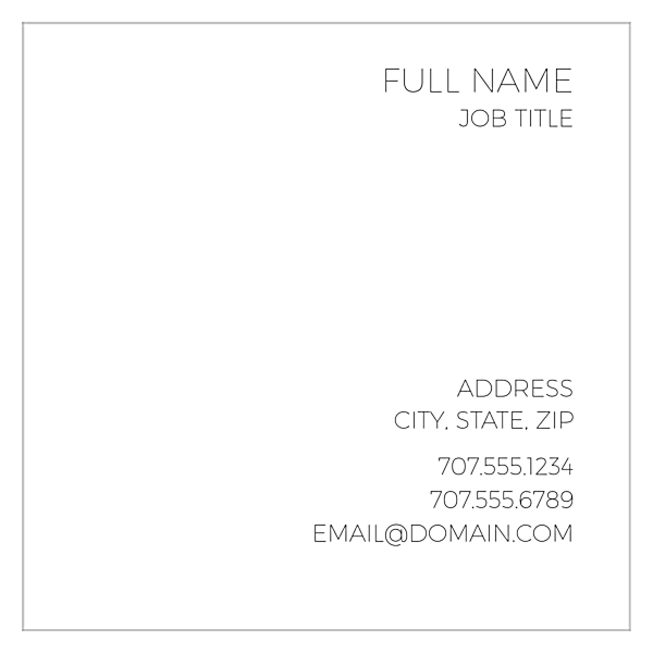 Right Align Two back - Business Cards Maker
