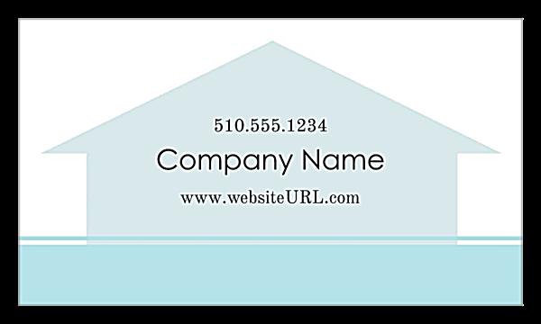Home Again Real Estate back - Business Cards Maker