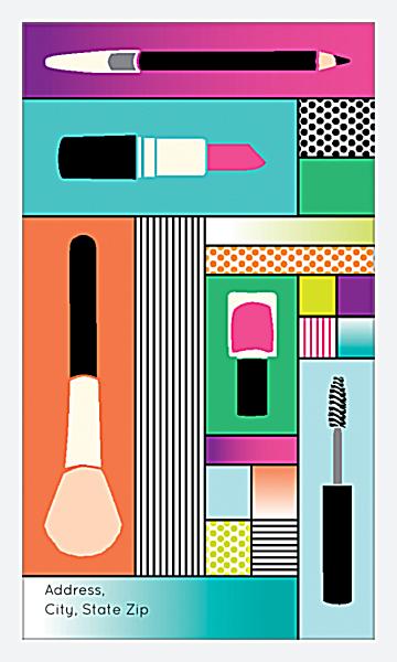 Makeup Theme Design back - Business Cards Maker