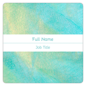 Teal Shimmer - business-cards Maker