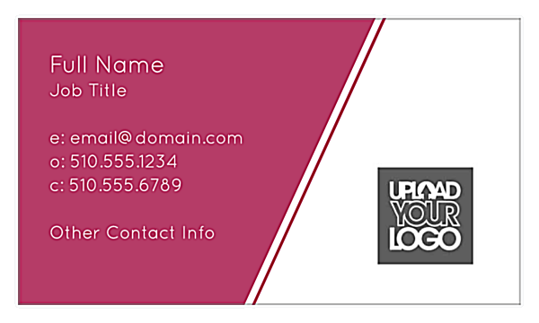customizable angular lines business card template