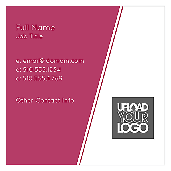 Angular Lines front - Business Cards Maker