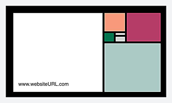 Colorful Squares back - Business Cards Maker