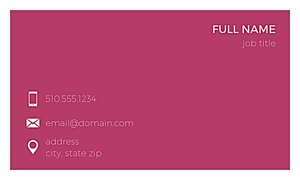 Dotty Card front - Business Cards Maker