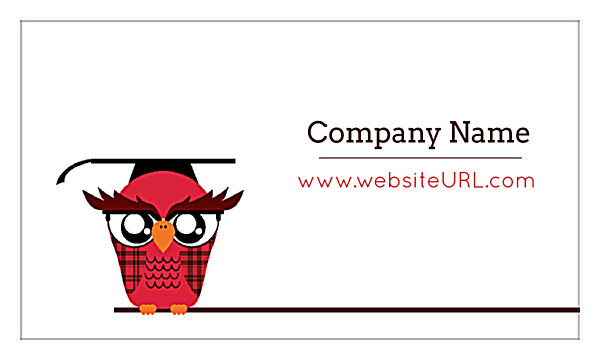 Classroom Owl front - Business Cards Maker