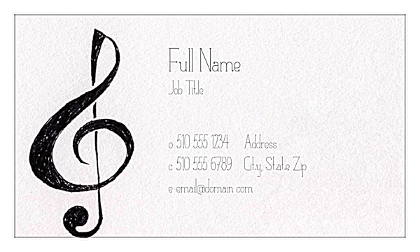 Clefs front - Business Cards Maker
