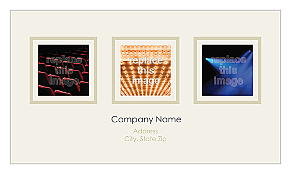 Print Business Cards with Our Triptych Design Template back - Business Cards Maker