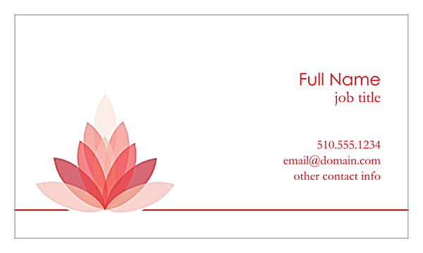 Lotus Connection back - Business Cards Maker