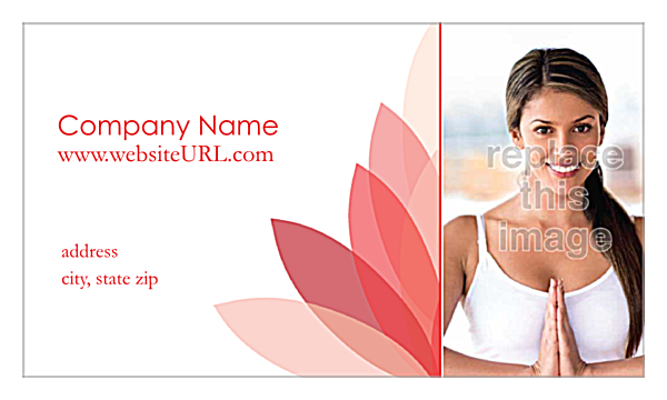 Lotus Connection front - Business Cards Maker