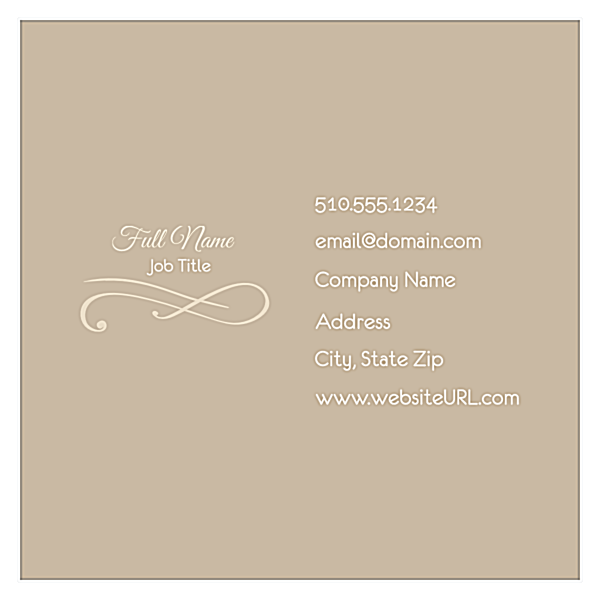 Elegant Scroll front - Business Cards Maker