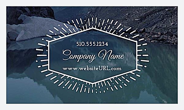 starburst crest front business cards maker - Print Custom Business Cards