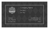 Gray Argyle - business-cards Maker
