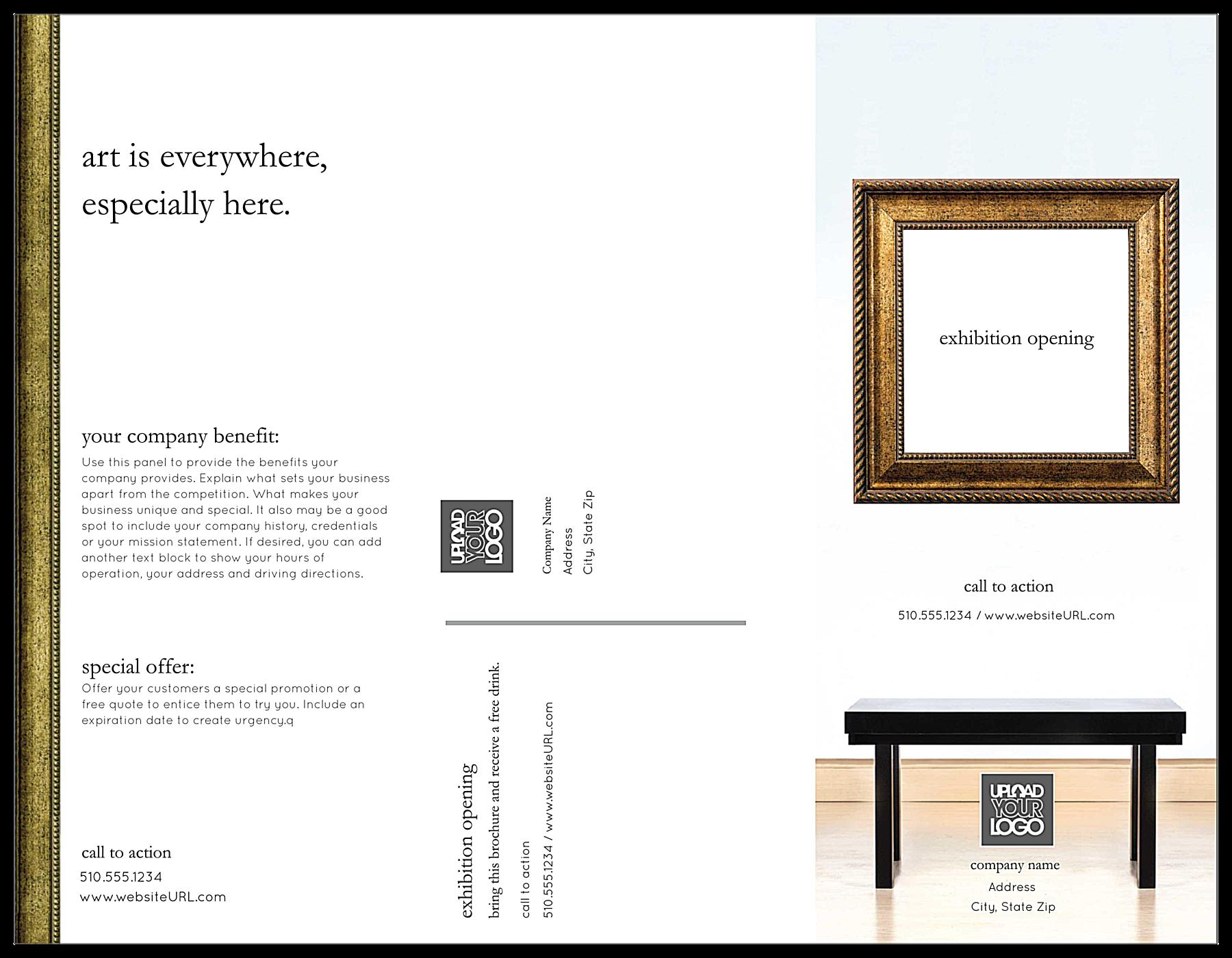 Exhibition Gallery front - Brochures Maker
