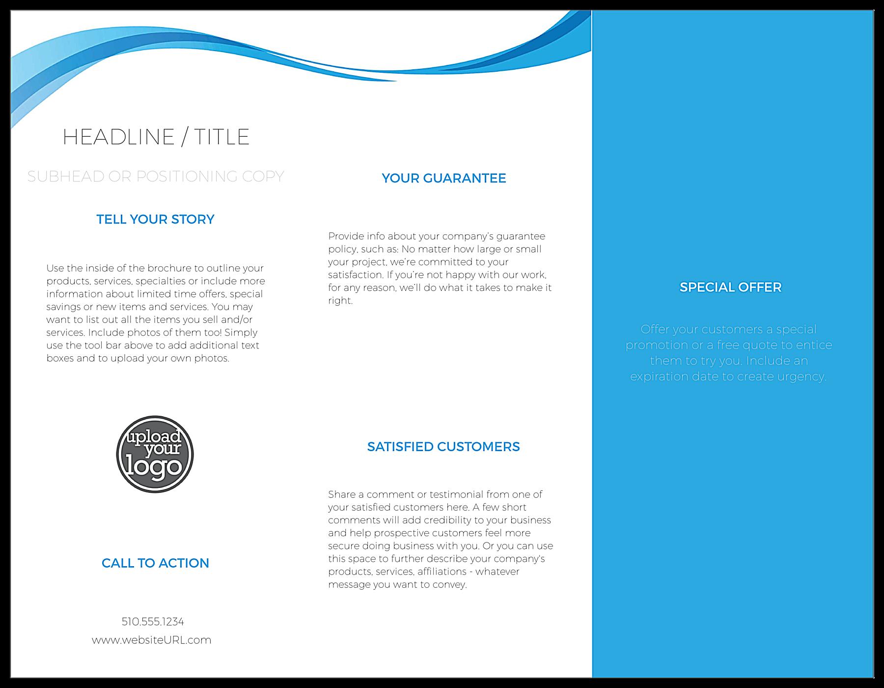Blue Flowing Line back - Brochures Maker