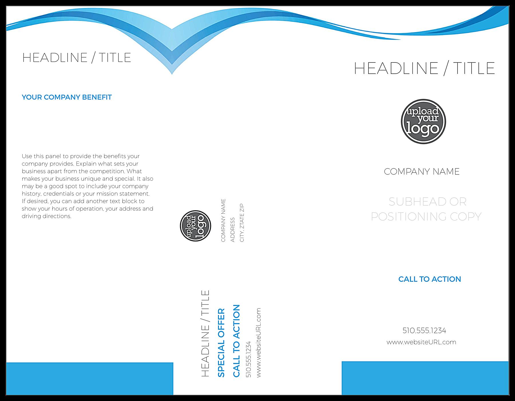 Blue Flowing Line front - Brochures Maker