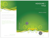 Green Floral Flow - brochures Maker