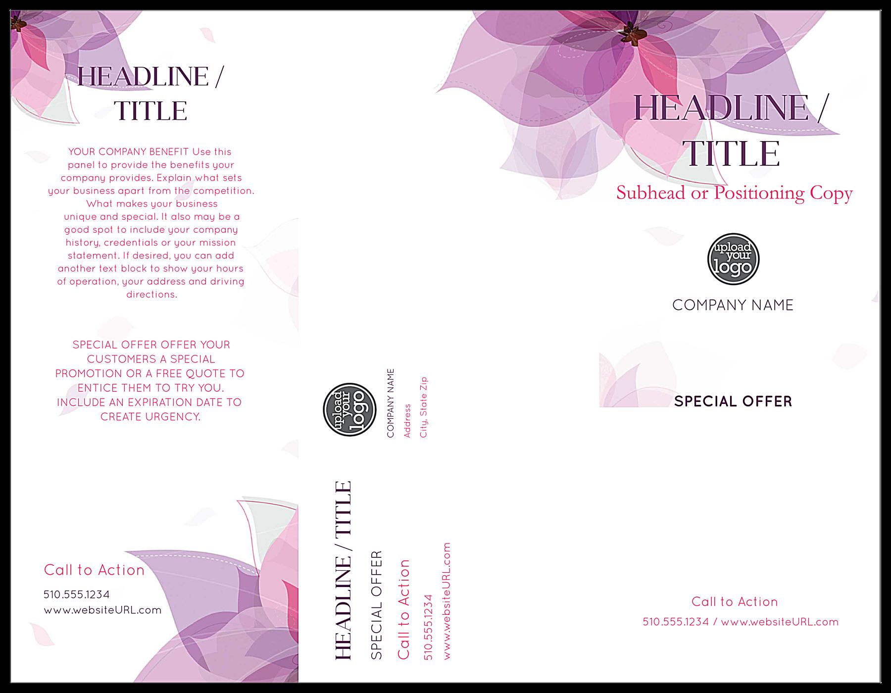 Purple Flower front - Brochures Maker