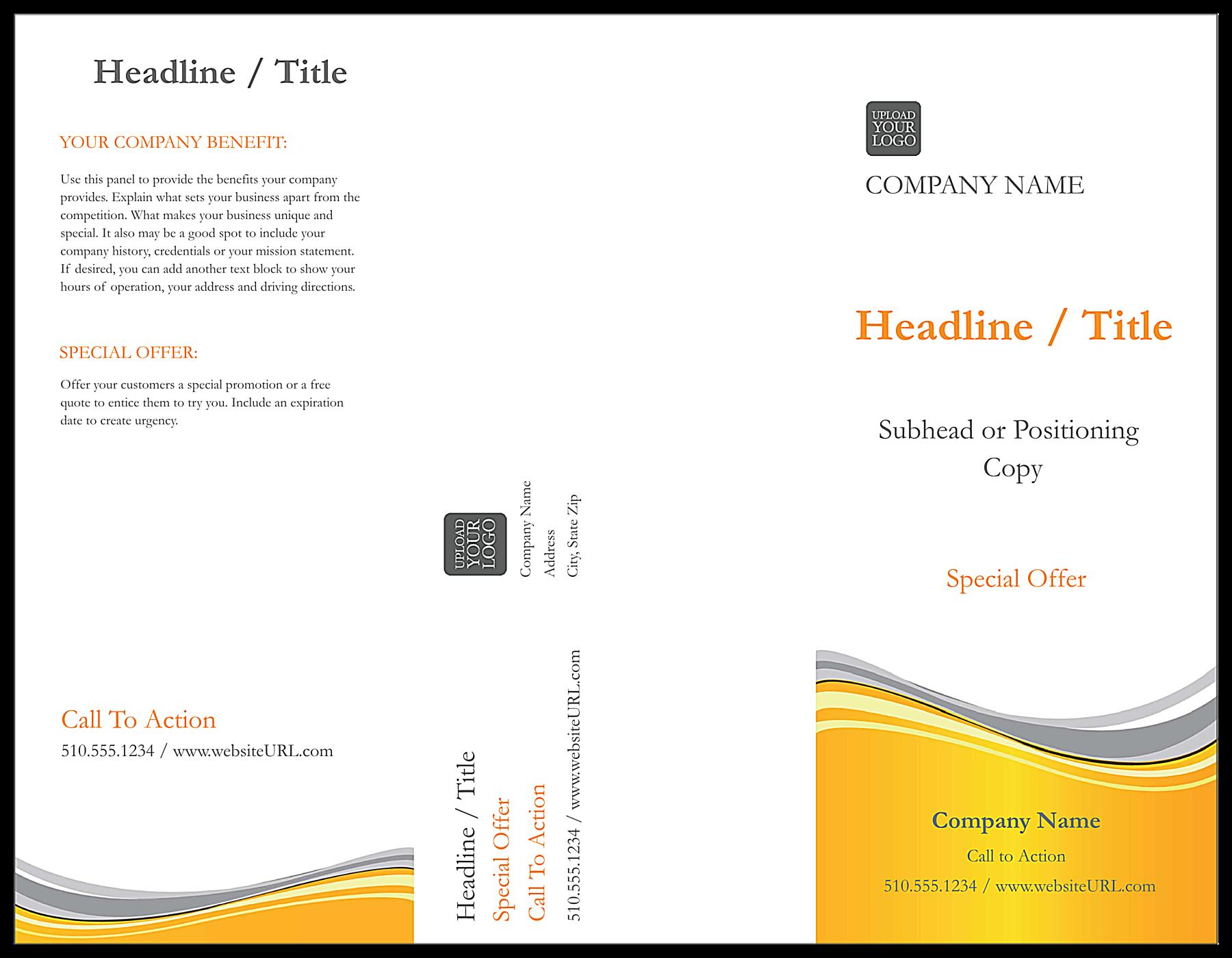 Golden Wave front - Brochures Maker
