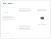 Minimal Blue - brochures Maker