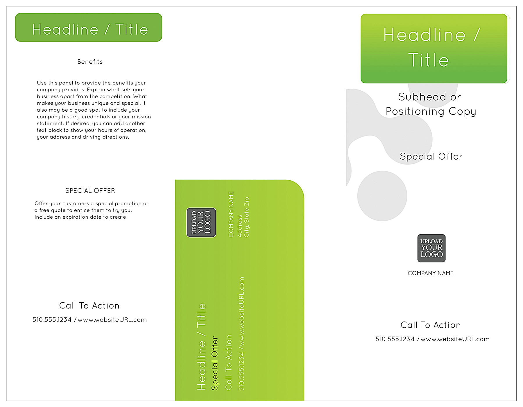 Traditional Green front - Brochures Maker