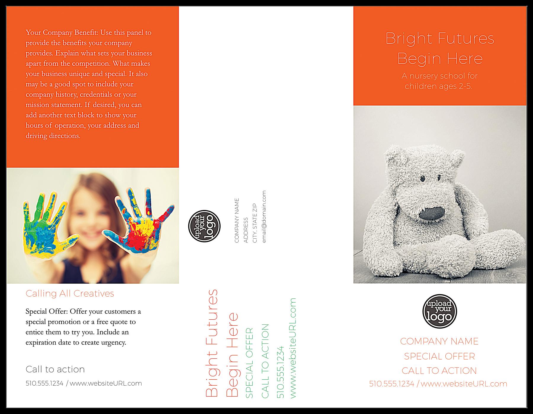 Nursery School front - Brochures Maker