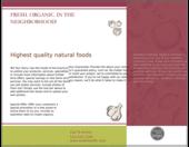 Fresh Food - brochures Maker