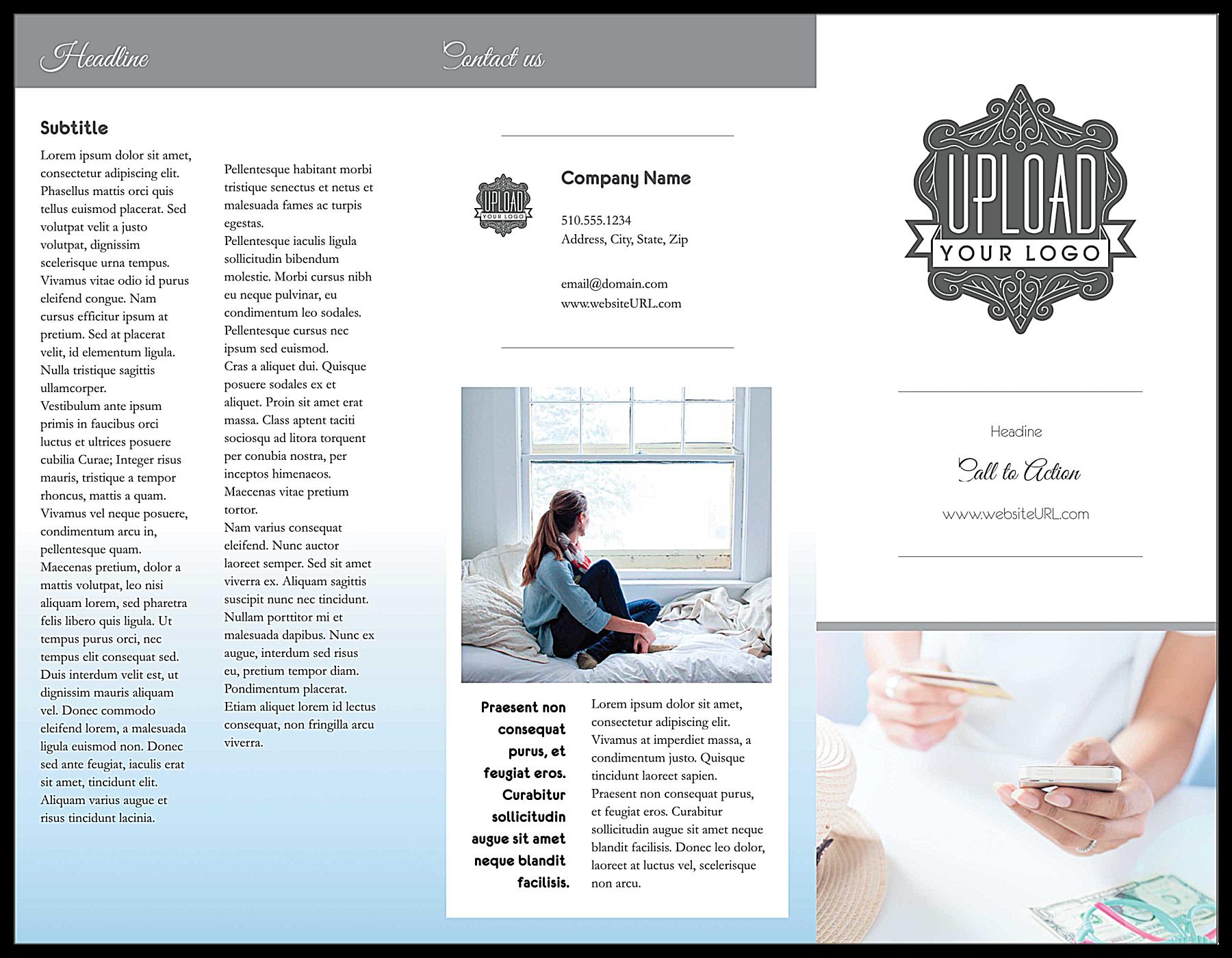 Soft Blue Retail front - Brochures Maker