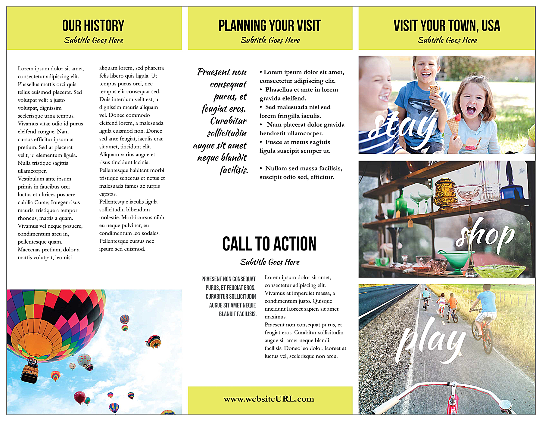 Small Town Tourism front - Brochures Maker