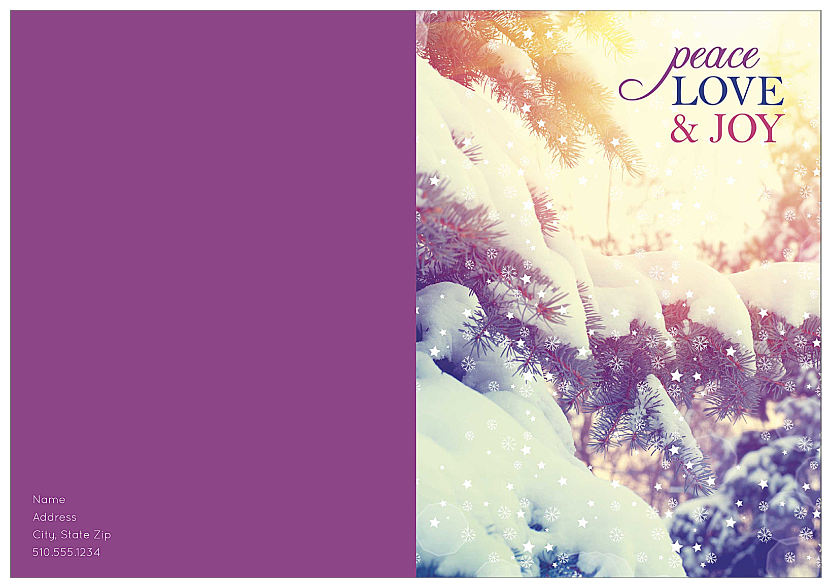 Snowy Peace front - Greeting Cards Maker