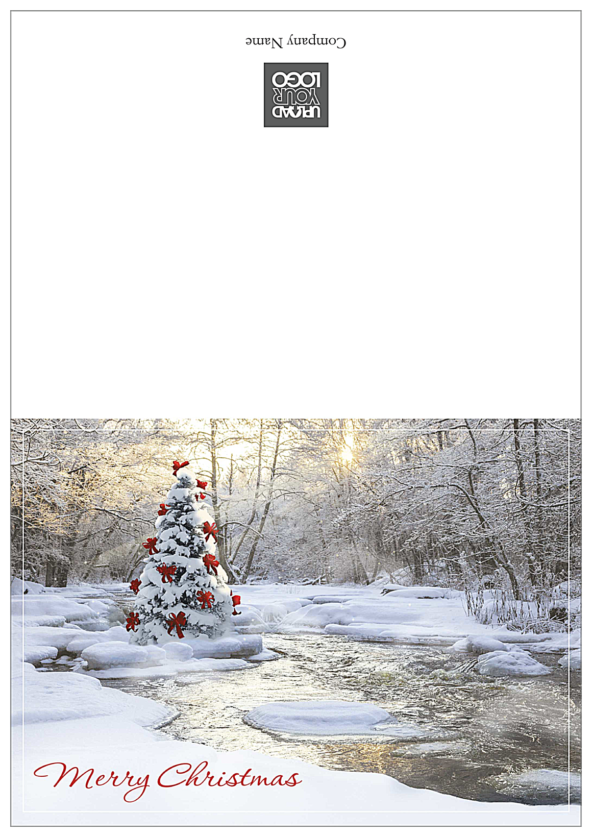 Merry Christmas Tree front - Greeting Cards Maker