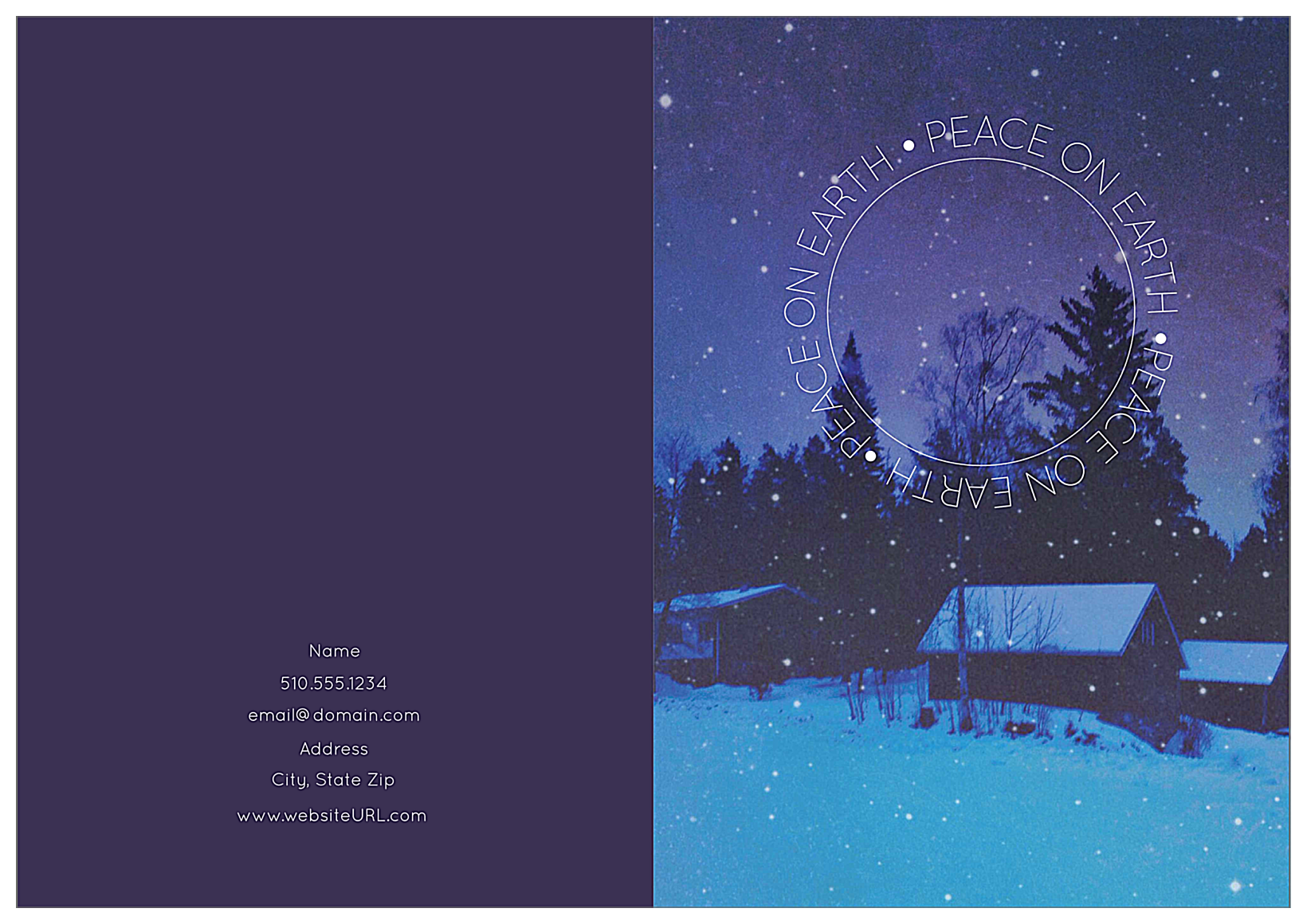 Peaceful Snow front - Greeting Cards Maker