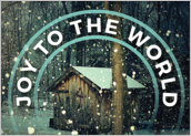 Snowy Cabin - greeting-cards Maker