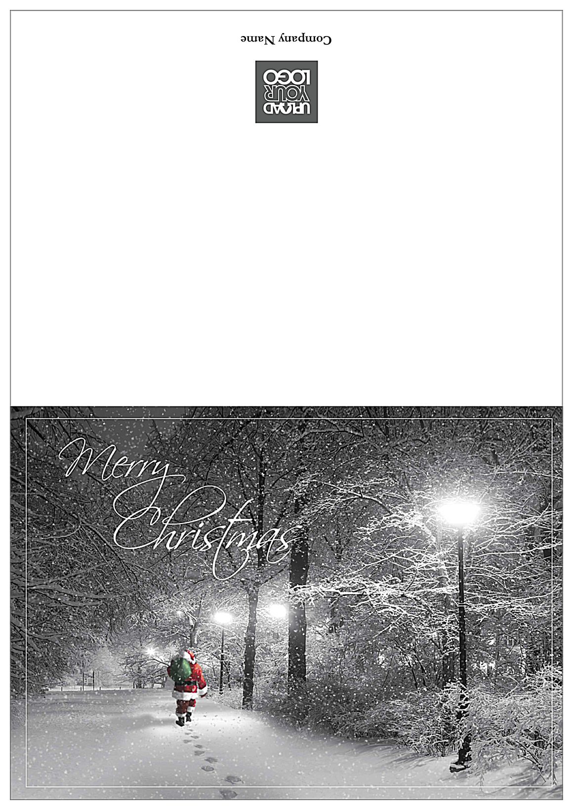 Snowy Merry Christmas front - Greeting Cards Maker