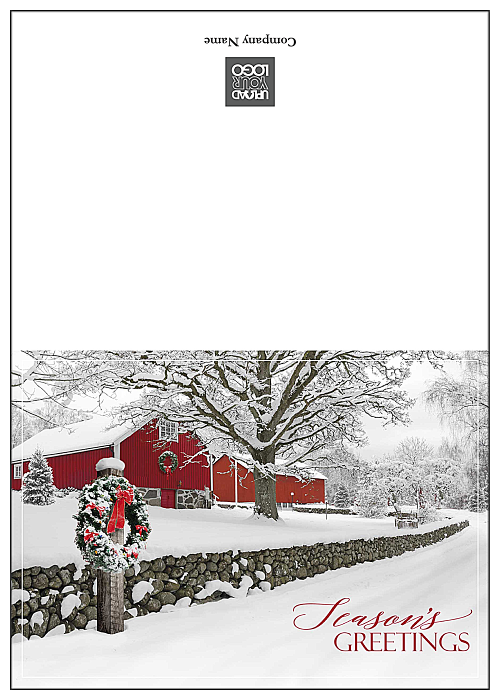 Snowy Season's Greetings front - Greeting Cards Maker