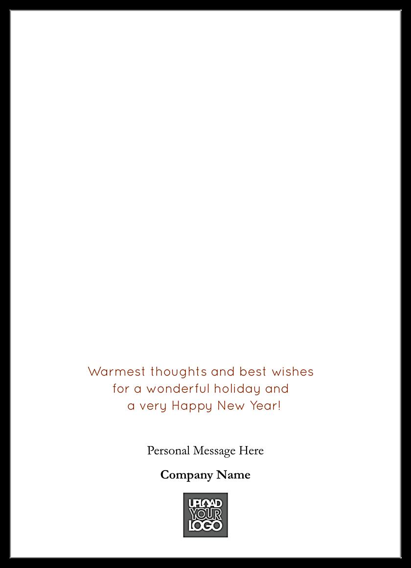 Golden Happy Holidays back - Greeting Cards Maker