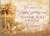 Golden Happy Holidays - greeting-cards Maker