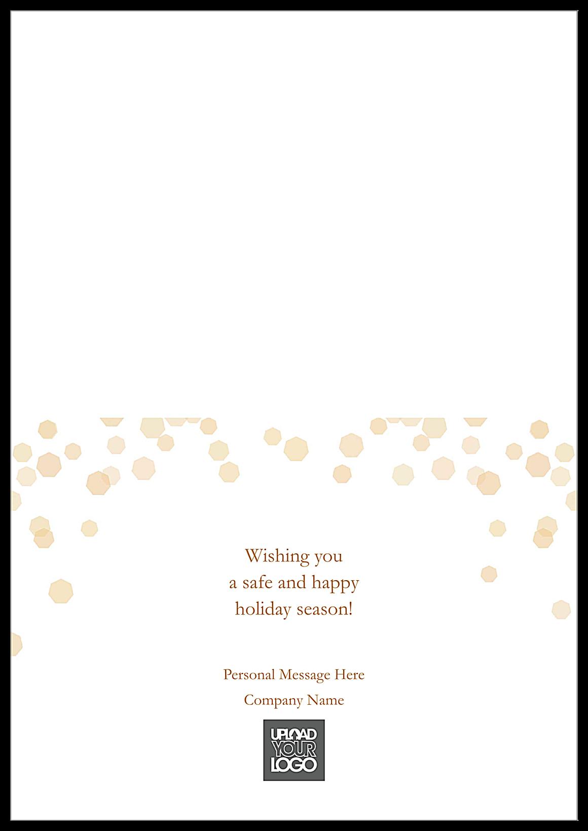 Golden Merry Christmas back - Greeting Cards Maker