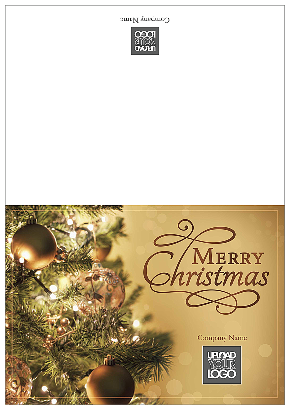 Golden Merry Christmas front - Greeting Cards Maker