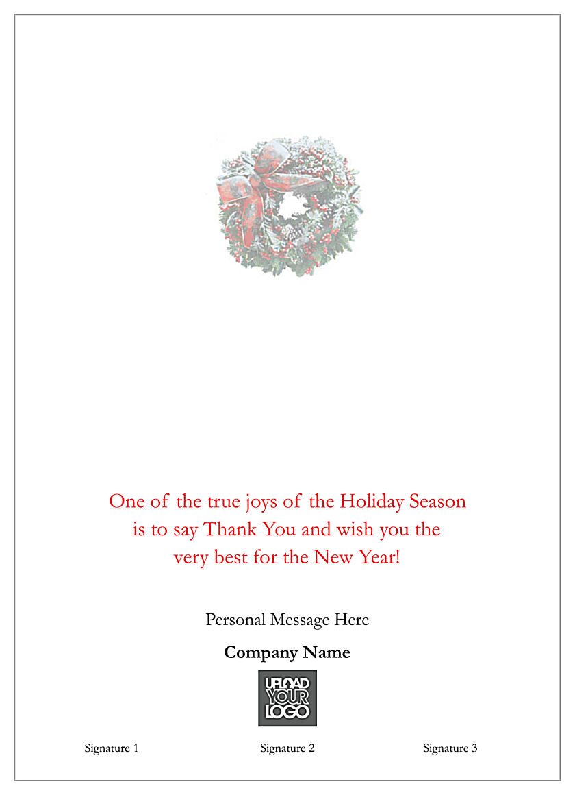 Snowy Wreaths back - Greeting Cards Maker