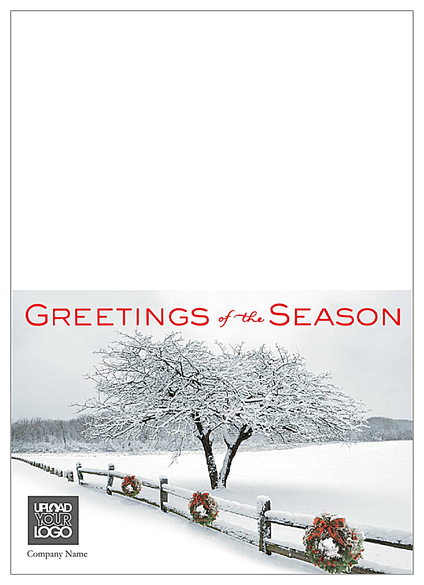 Snowy Wreaths front - Greeting Cards Maker